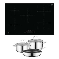 Neff T48FD23X2KIT Induction Hob with CombiZone - Black