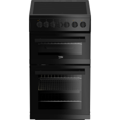 Beko EDVC503B 50Cm Ceramic Double Oven Beko Black New