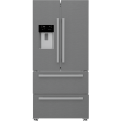 Blomberg KFD4953XD Frost Free American Style Fridge Freezer - Stainless Steel